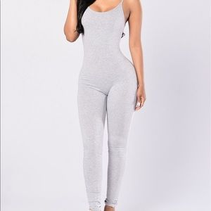 Pants - Gray bodysuit
